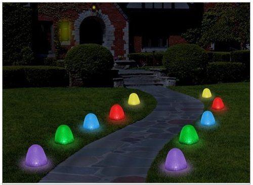 set of 10 8 tall sugar coated led gumdrop christmas pathway lights paragon america