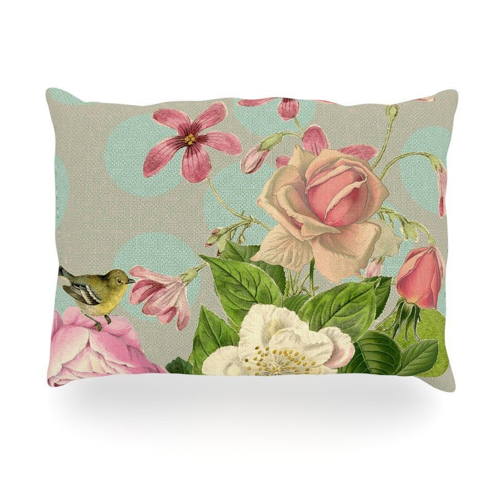 "Suzanne Carter ""Vintage Garden Cush"" Flowers Oblong Pillow from KESS InHouse"