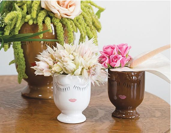 Face Planter Head Planter Face Vase African American Face Planters Purple Plants Head Planters