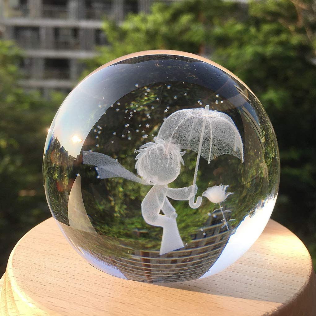 Amazon Com Amperer 3d Crystal Ball Music Box Little Prince