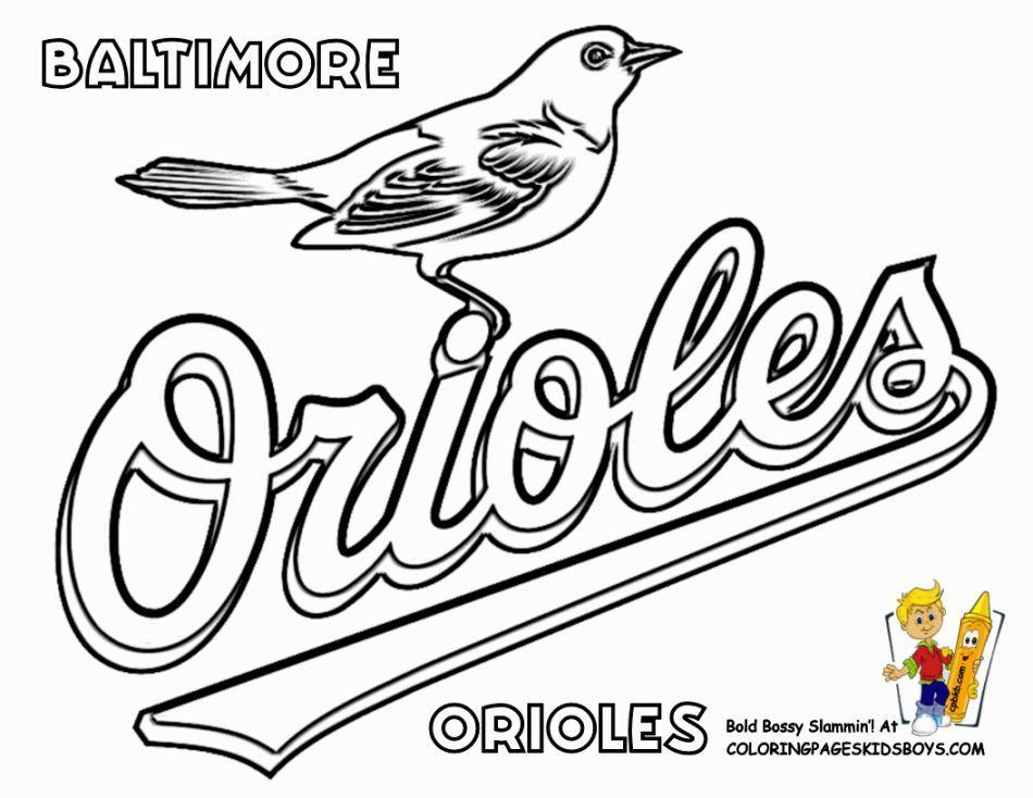 Coloring Pages Baseball Baseball Coloring Pages Sports Coloring Pages Baltimore Orioles Baseball
