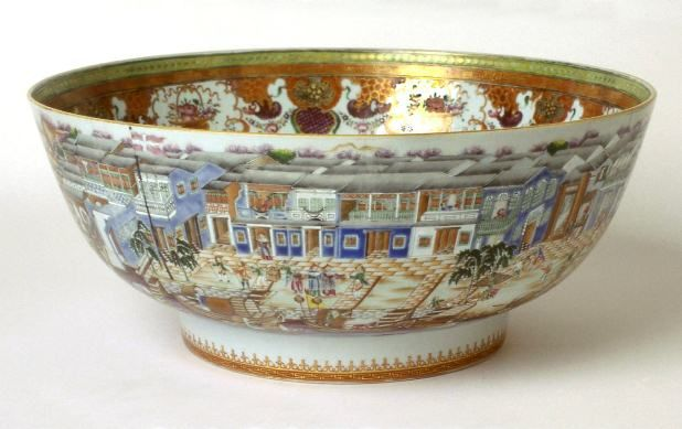Alternate View Chinese Export Hong Punch Bowl Made In Jingdezhen Jiangxi Province China C 1780 85 Caroline With Images Chinese Antiques Punch Bowls China Porcelain