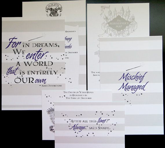 harry potter wedding invitation package by abbieleedesigns on etsy - Harry Potter Wedding Invitations