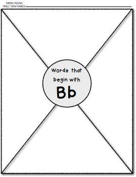 Alliteration & Beginning Sounds {Cooperative Groups} Round