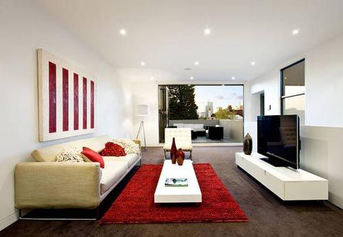 Rectangle Shape Livingroom Interior Design