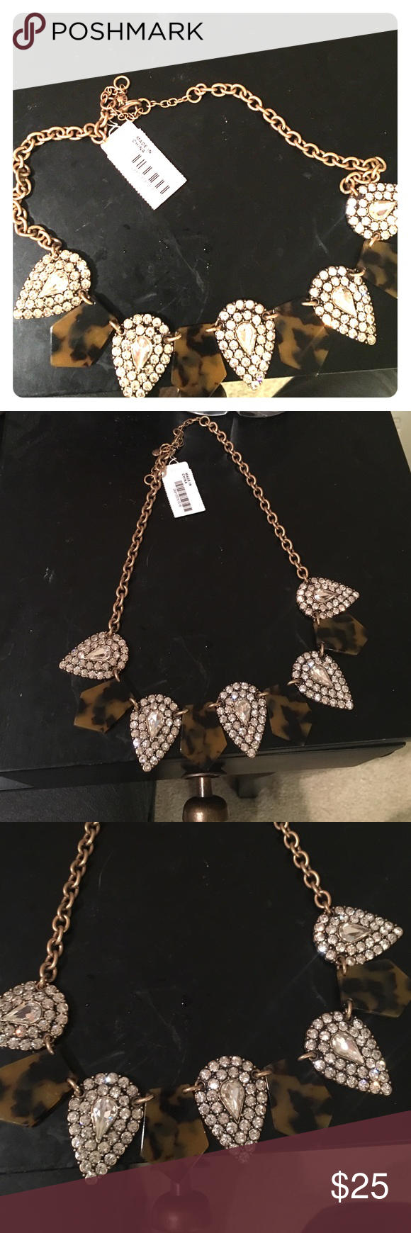 Jcrew necklace leopard pendant necklace brand new never worn j