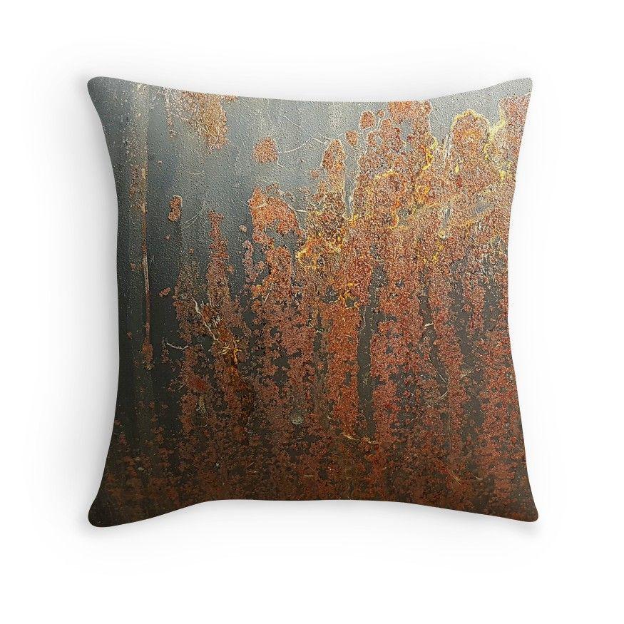Dark Grey Rust Throw Pillow By Seller2018kf In 2020 Rust Throw