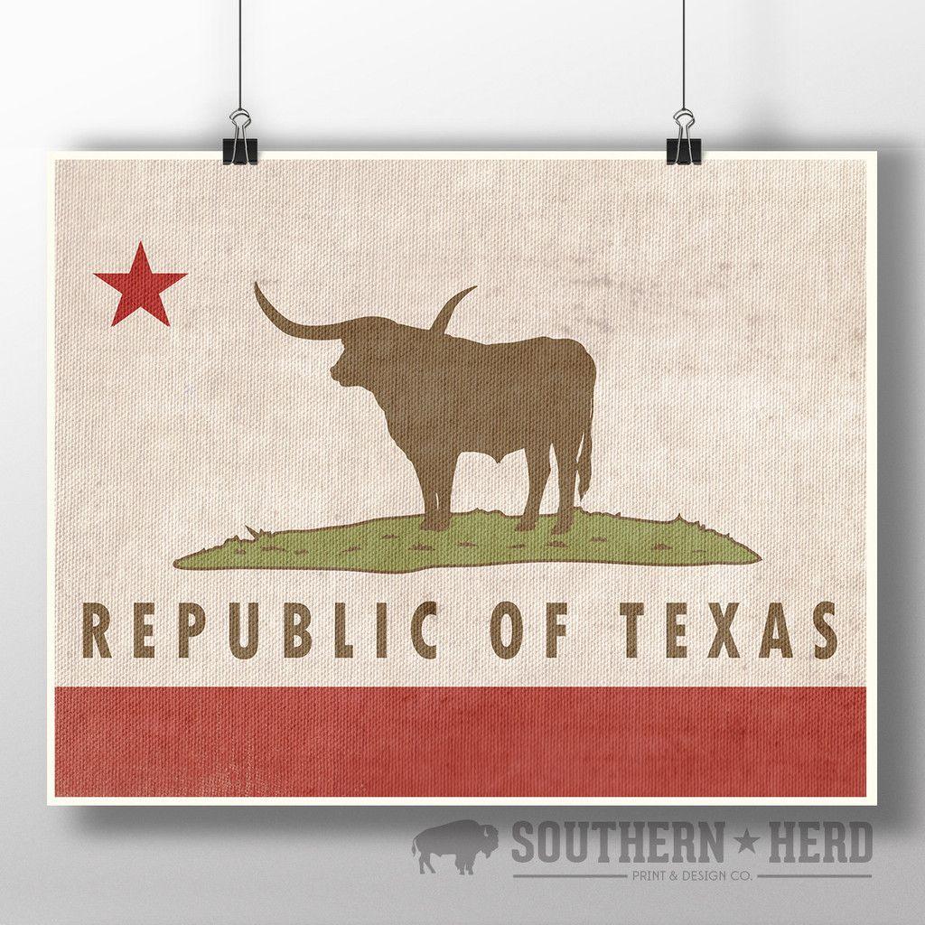 32ca835e6e3 California   Republic of Texas Flag Mash-up Art Print