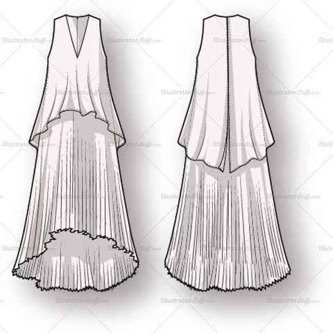 Free Fashion Flat Templates Trim Pack Courses Free Tutorials On Adobe Illustrator Tech Packs Freelancing For Fashion Designers Fashion Sketches Fashion Design Jobs Fashion Design Template