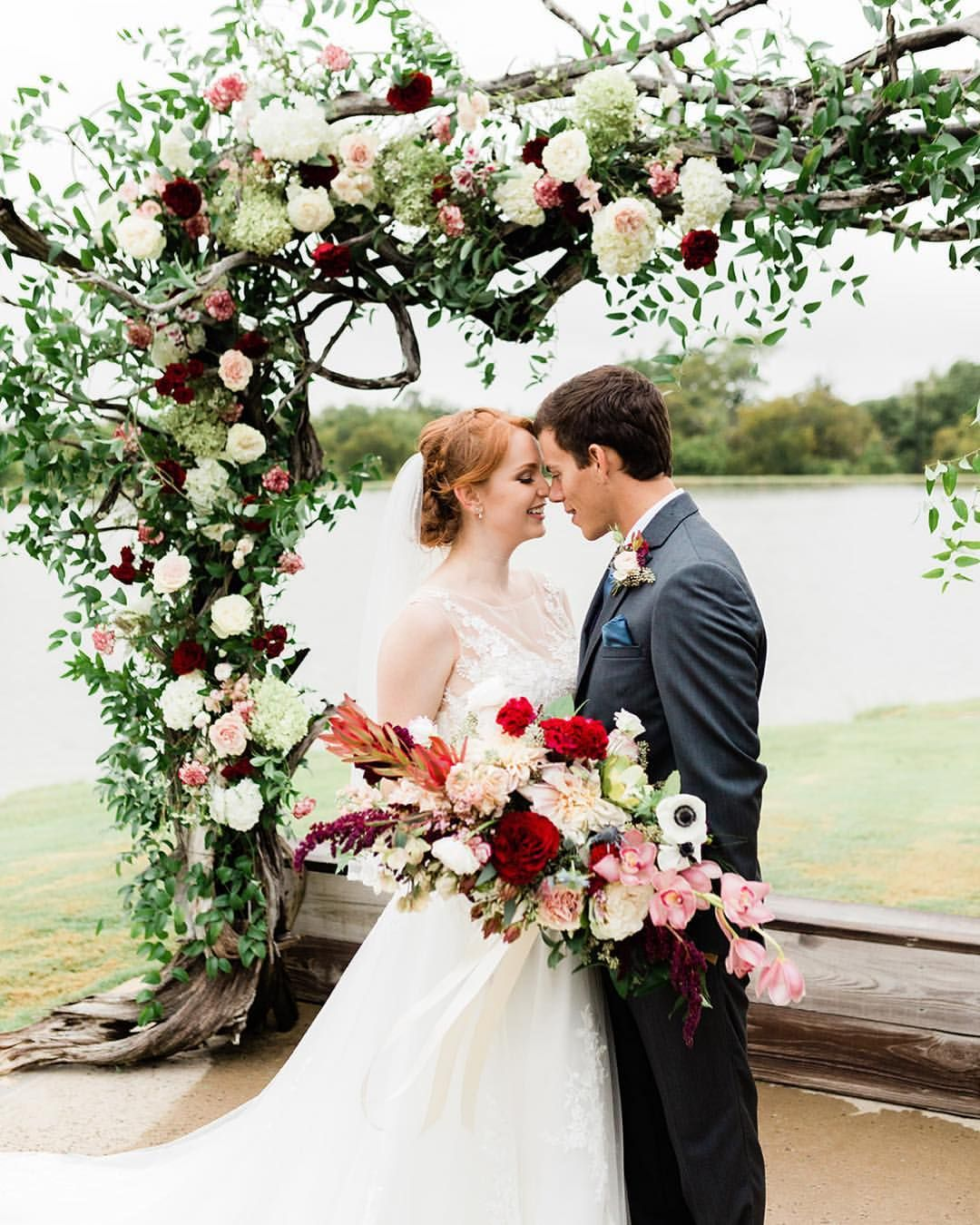 Beautiful Floral Arch For Precious Couple's Outdoor Ranch