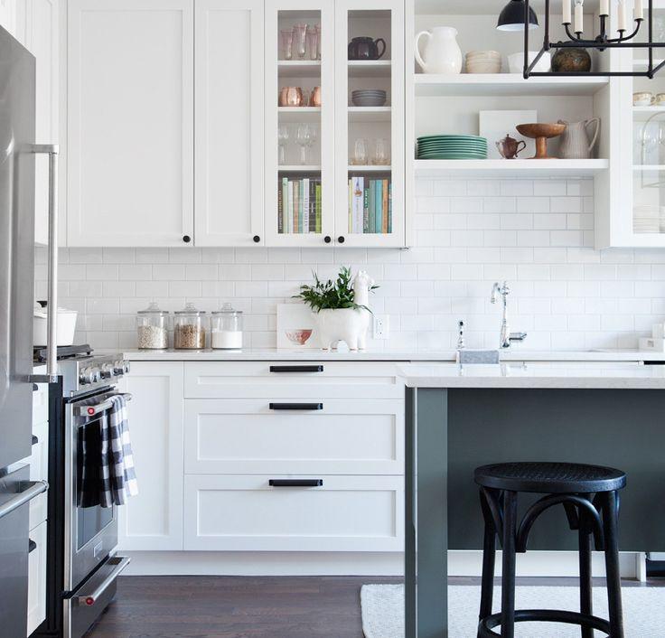 Image result for white shaker cabinets black hardware Kitchen - nobilia küche erweitern