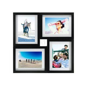 Black 4 Opening Puzzle Wood Collage Frame For 5x7 Prints By Malden 5x7 Frame Wall Collage Collage Picture Frames Picture Frame Wall