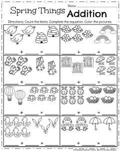 Spring Kindergarten Worksheets Kindergarten worksheets