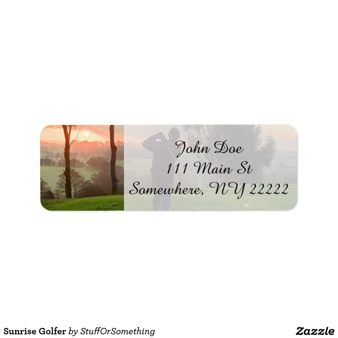 Sunrise Golfer Return Address Labels