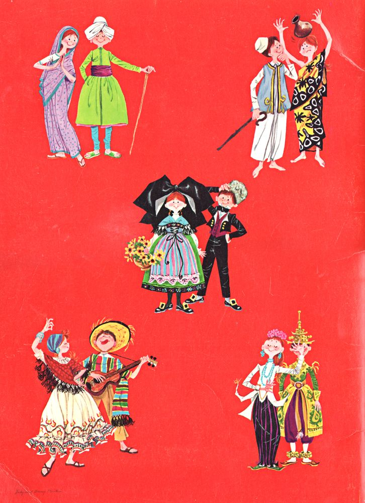 Back cover of Dress Up for the New York World's Fair paper doll book. 1964-65