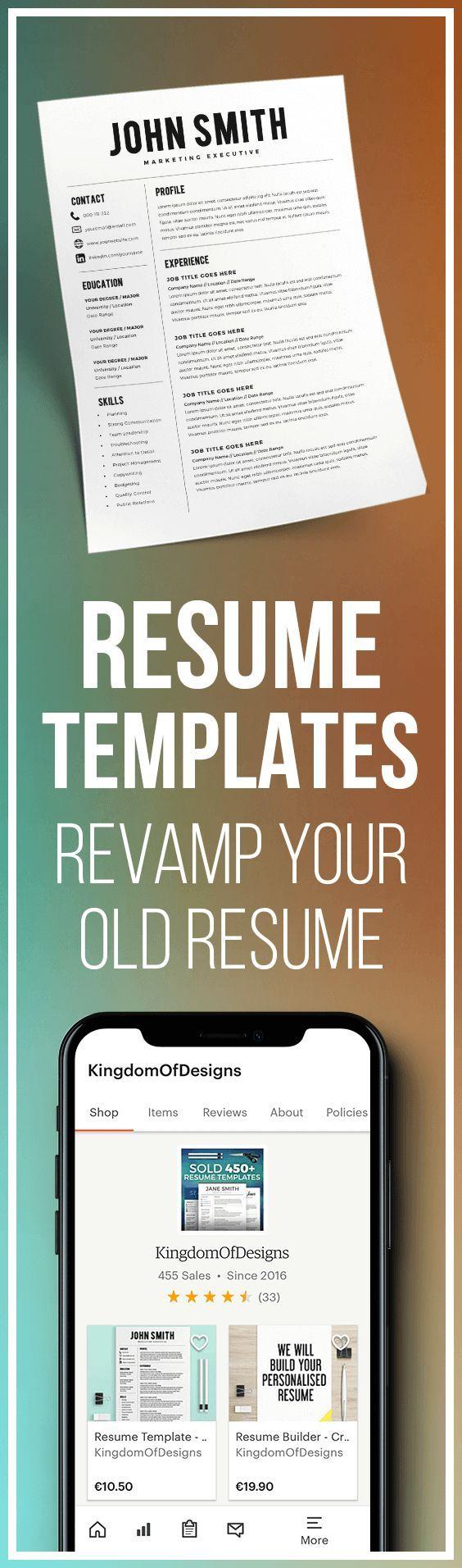 Resume Template Resume Builder CV Template Free