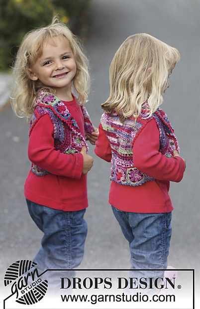 Hippy Chic shrug / bolero, free crochet pattern. Sizes 3 to 12 years ...