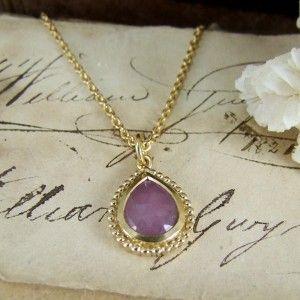Pink Sapphire vermeil pendant