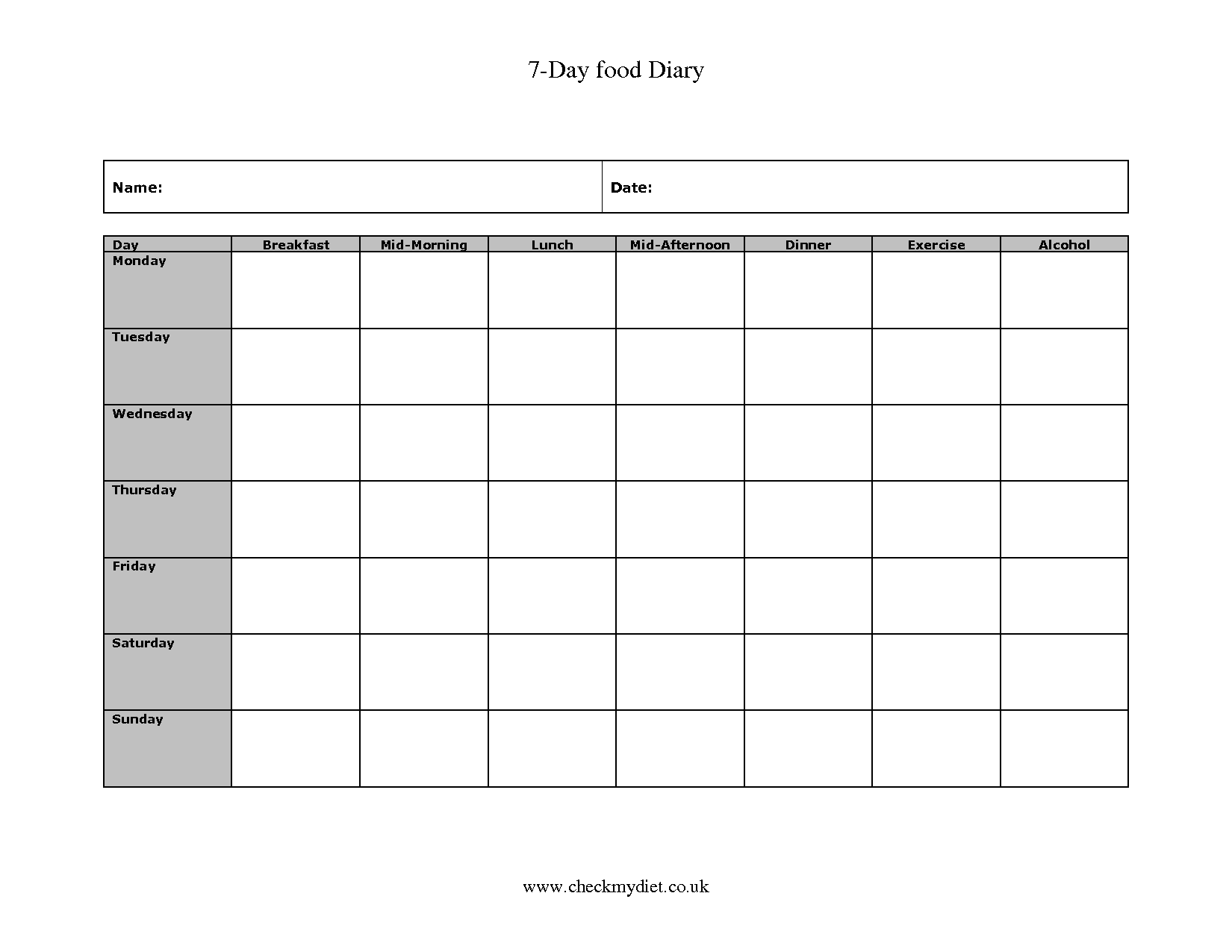 Titian Record Keeping Forms Print Out Sheets