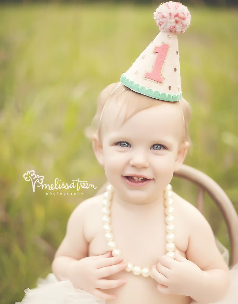 First Birthday Cake Smash Photos Greensboro Nc Baby Girl Wearing Hat And Tutu