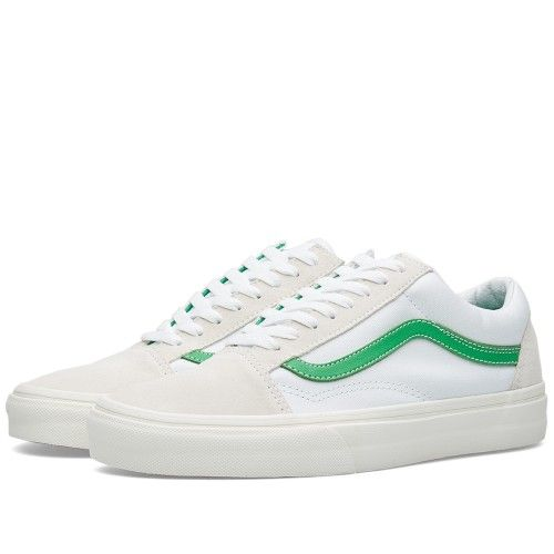 Vans Old Skool (True White & Kelly Green)