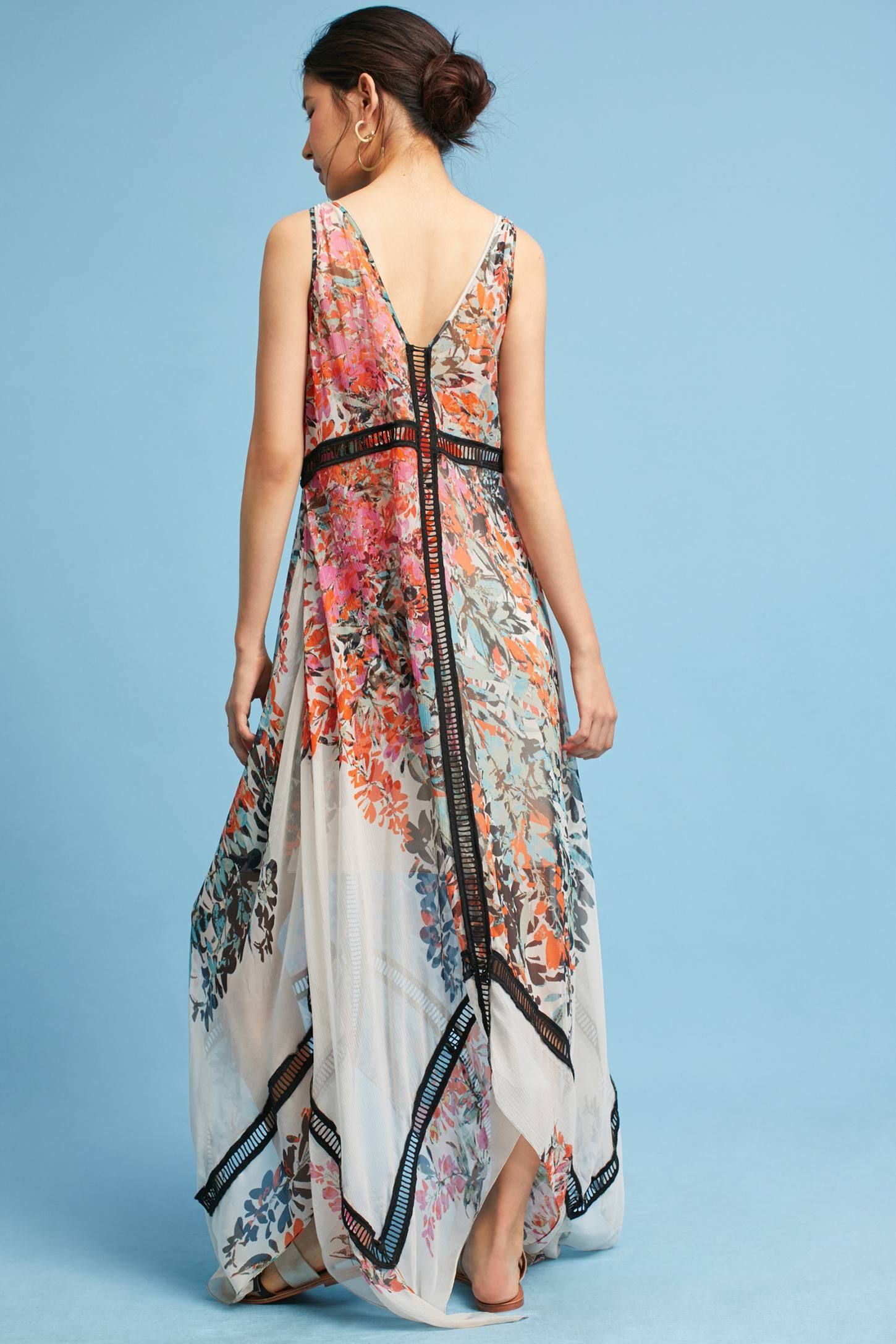 The Tracy Reese City Garden Silk Maxi Dresore Anthropologie At Today
