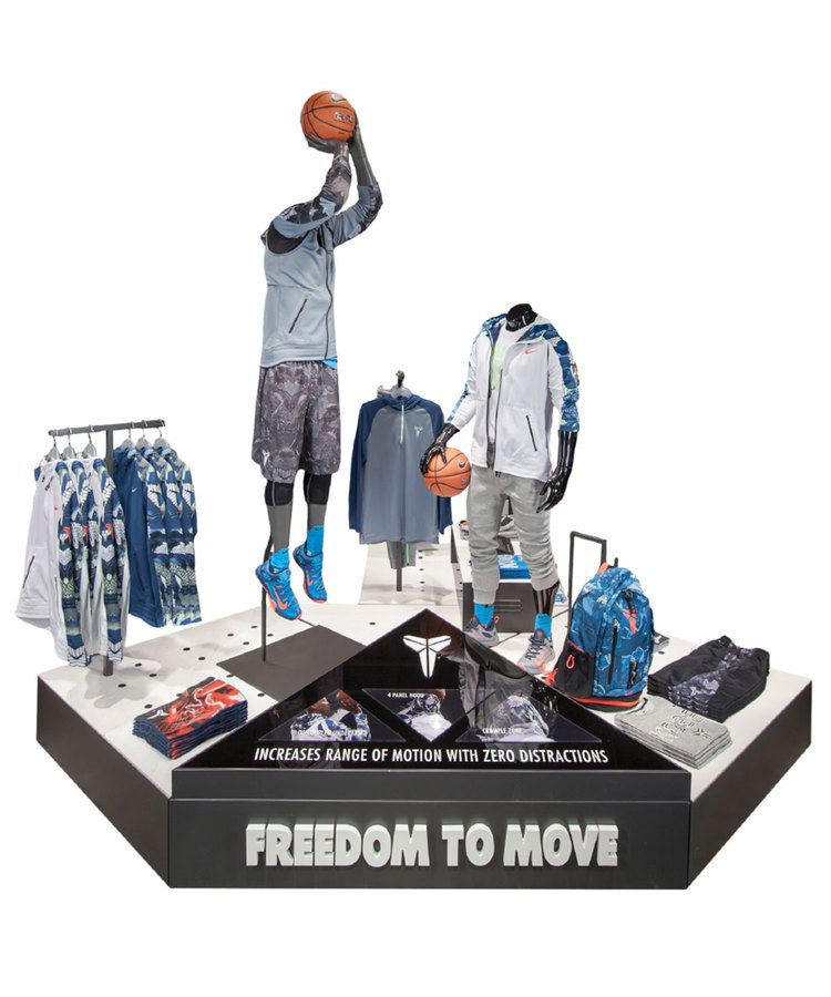 nike basketball kobe collection visual merchandising by leana shefman retail and exhibition. Black Bedroom Furniture Sets. Home Design Ideas