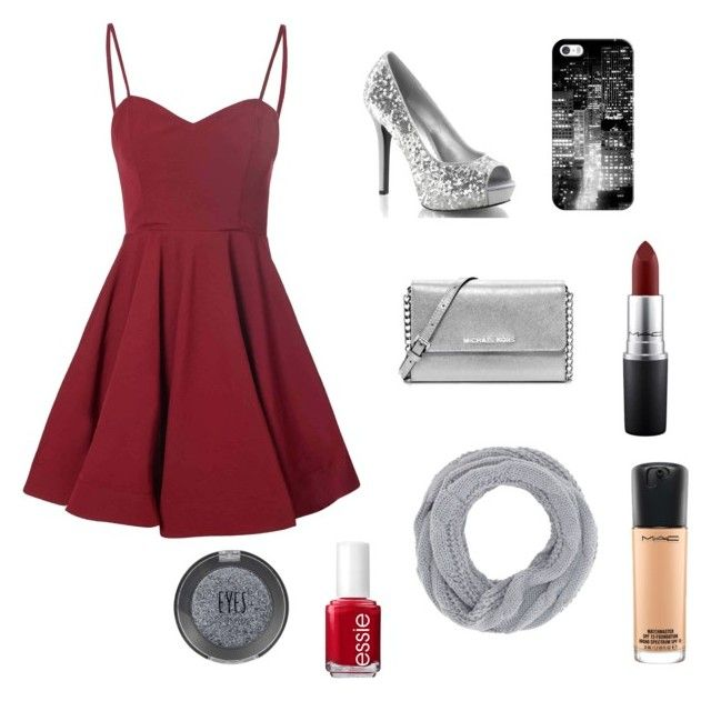 """""""New Years #2016"""" by lovebug4582 on Polyvore featuring Glamorous, MICHAEL Michael Kors, Casetify, Charlotte Russe, Essie, MAC Cosmetics and Topshop"""