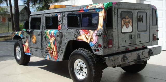 Dennis Rodman's naked lady custom Hummer – NSFW Photos ...