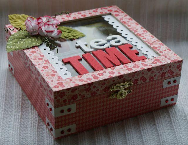 """Scrap-a-licious-times: """"Tea Time"""" teabags Box - Mama."""