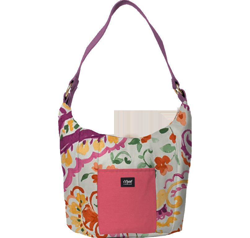Dakota Shoulder Bag with Fabric Handle