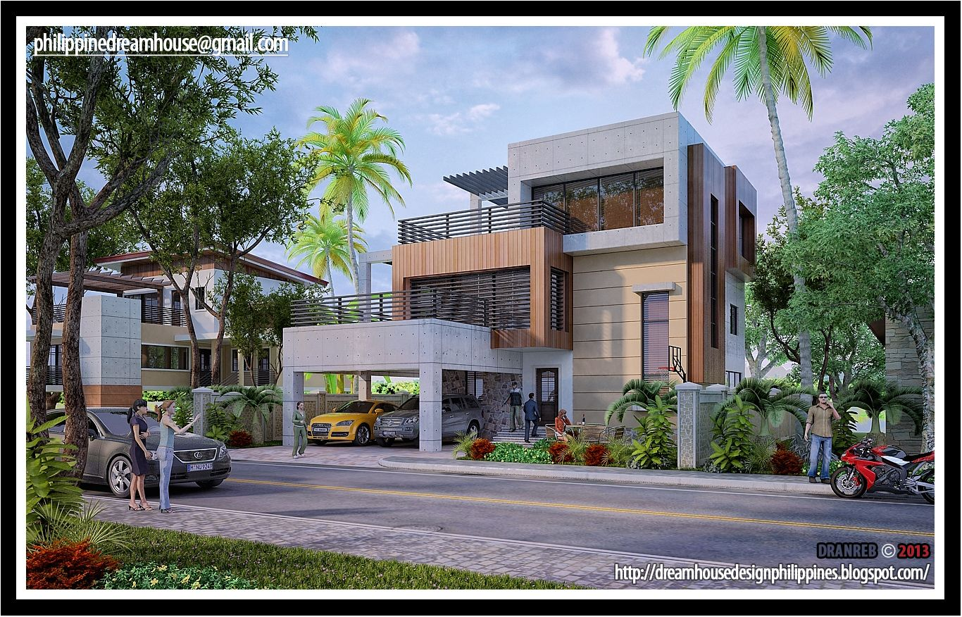 Modern design 3 storey house modern design for Modern house 52