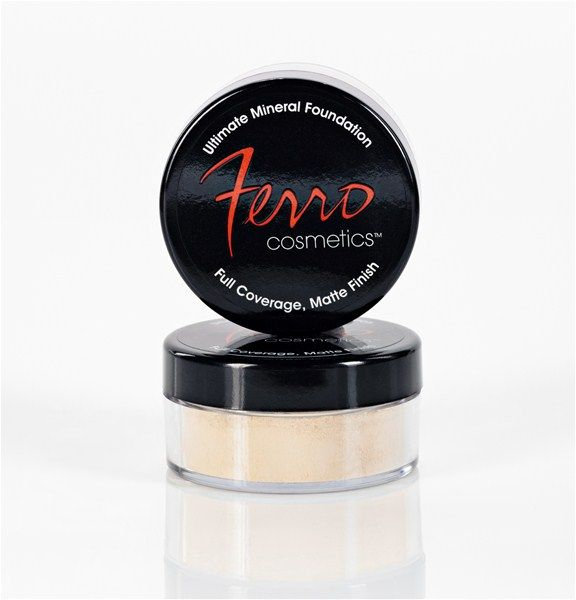 Ultimate Foundation.  100% Natural full coverage and amazing mineral makeup.  I use it on photo shoots a lot!