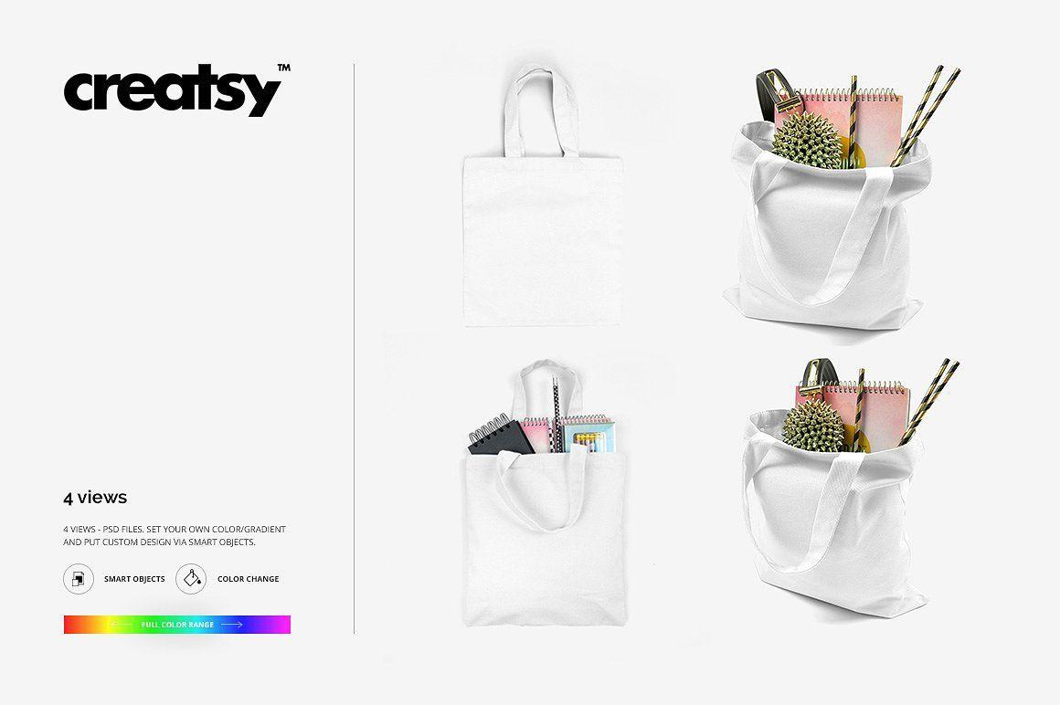 Download Tote Bag Mockup Set Bag Mockup Tote Bag Bags