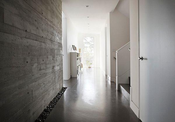 Hallway Concrete Wall Concrete Wall Concrete Interiors Modern Hall