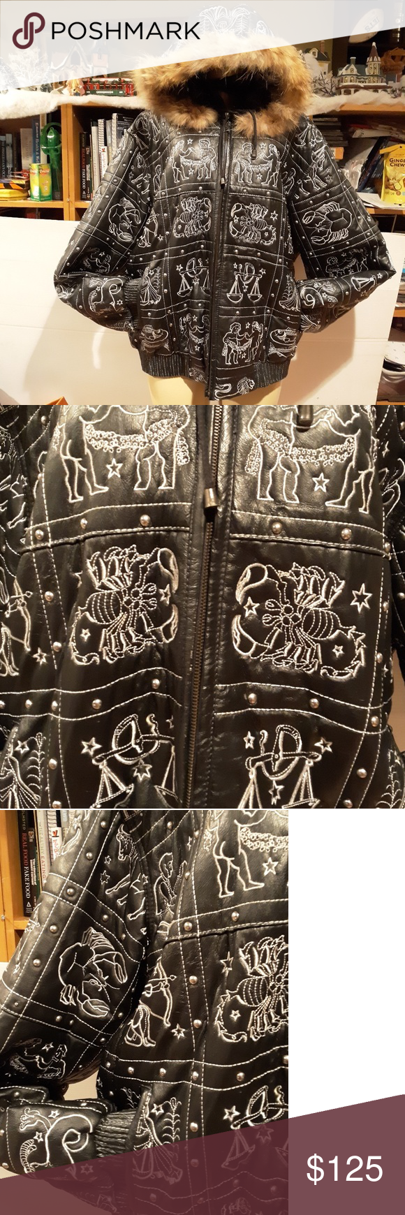 Vilanto Rare Vtg 80 S Leather Jacket Wow Like New Awesome Vtg 80 S Leather Jacket Astrology Signs This Jacket Says S Leather Jacket Jackets Fashion [ 1740 x 580 Pixel ]