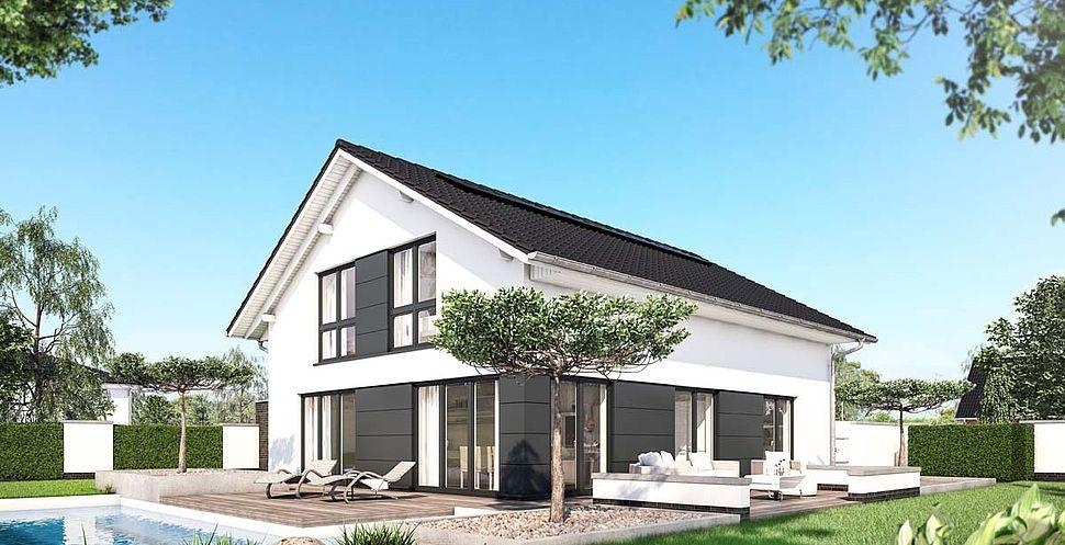 Variante mit Fassadenplatten Outdoordekorationen
