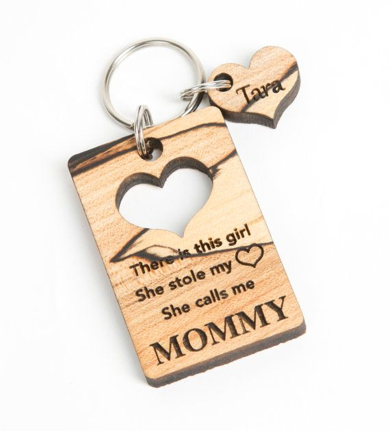 Custom Personalized Solid Wood Keychains. Perfect gift for Fathers Day or  Mothers Day. These keychains have a cut out for the child s name and a87959e343