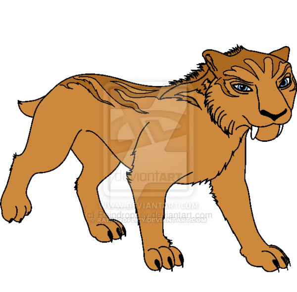 Image result for ice age saber tooth tiger art Ice age