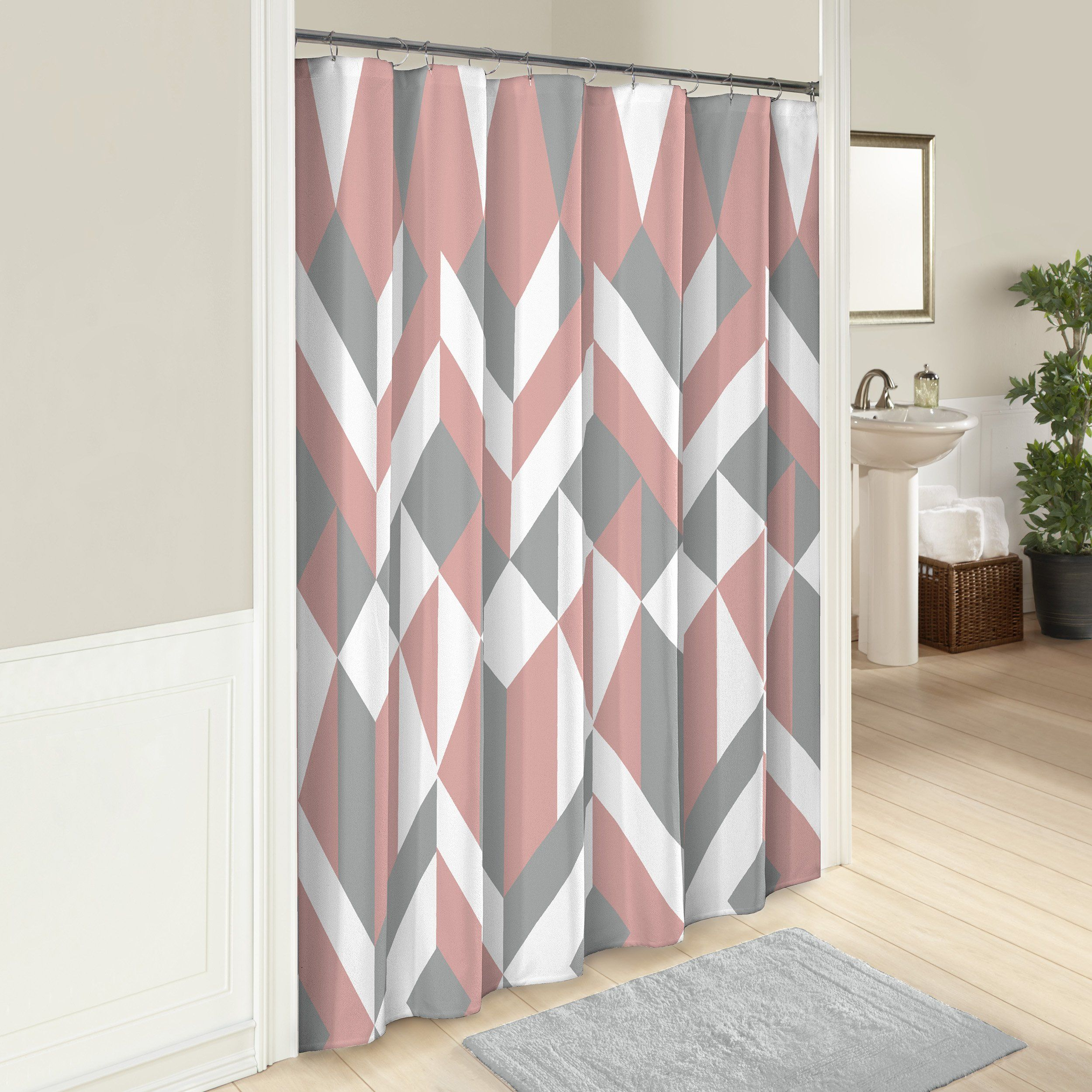 Marble Hill Shower Curtains For Bathroom Lena 72 Quot X 72 Quot