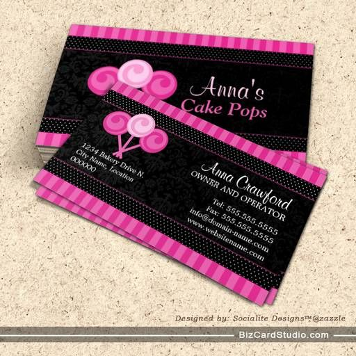 Cake pops bakery business cards business card templates cake pops bakery business cards accmission Gallery