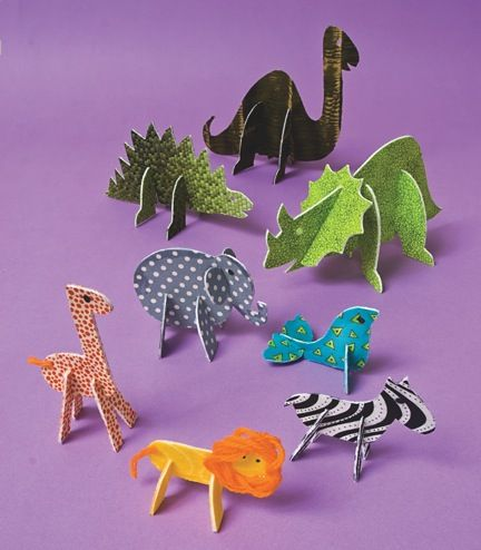 kids zoo crafts | Crafts for Kids Blog » Tutorial : Make Stand-Up Fabric Zoo Animals