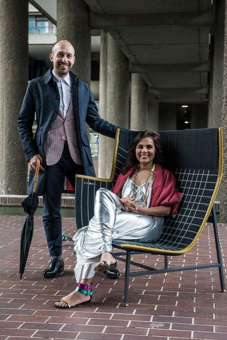 Nipa Doshi And Jonathan Levien With Their Paper Planes Chair For Moroso