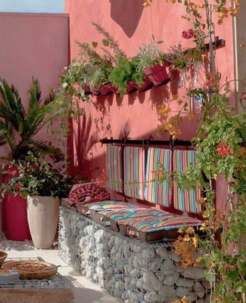 Rosa Viejo Decoracion Patios Jardines Rusticos Decoracion De Patio