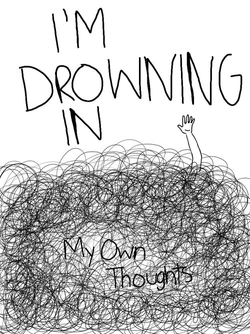 Thought Drowning I Falling Again Pinterest Ilustraciones