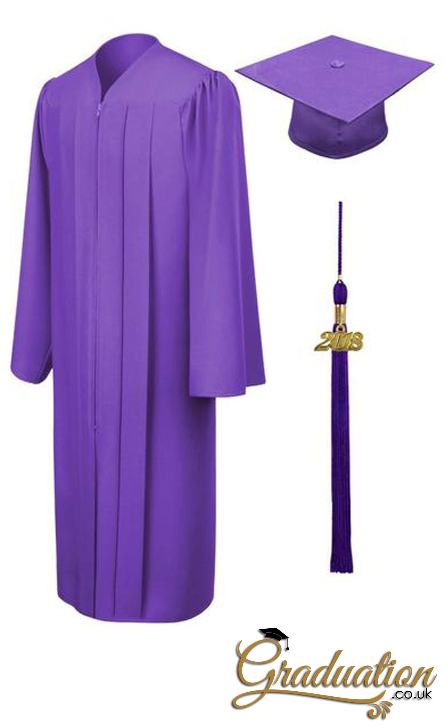 Many Colors and Sizes available Graduation Cap Gown and Tassel Shiny Finish