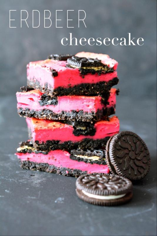 Kessy's Pink Sugar: Oreo strawberry cheesecake bars