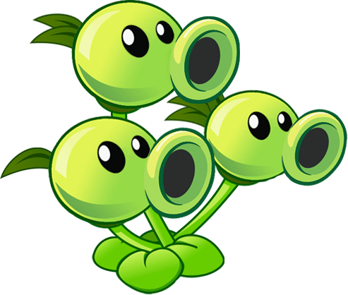 Threepeater Gallery Plants Vs Zombies Birthday Party Plant Zombie Plants Vs Zombies