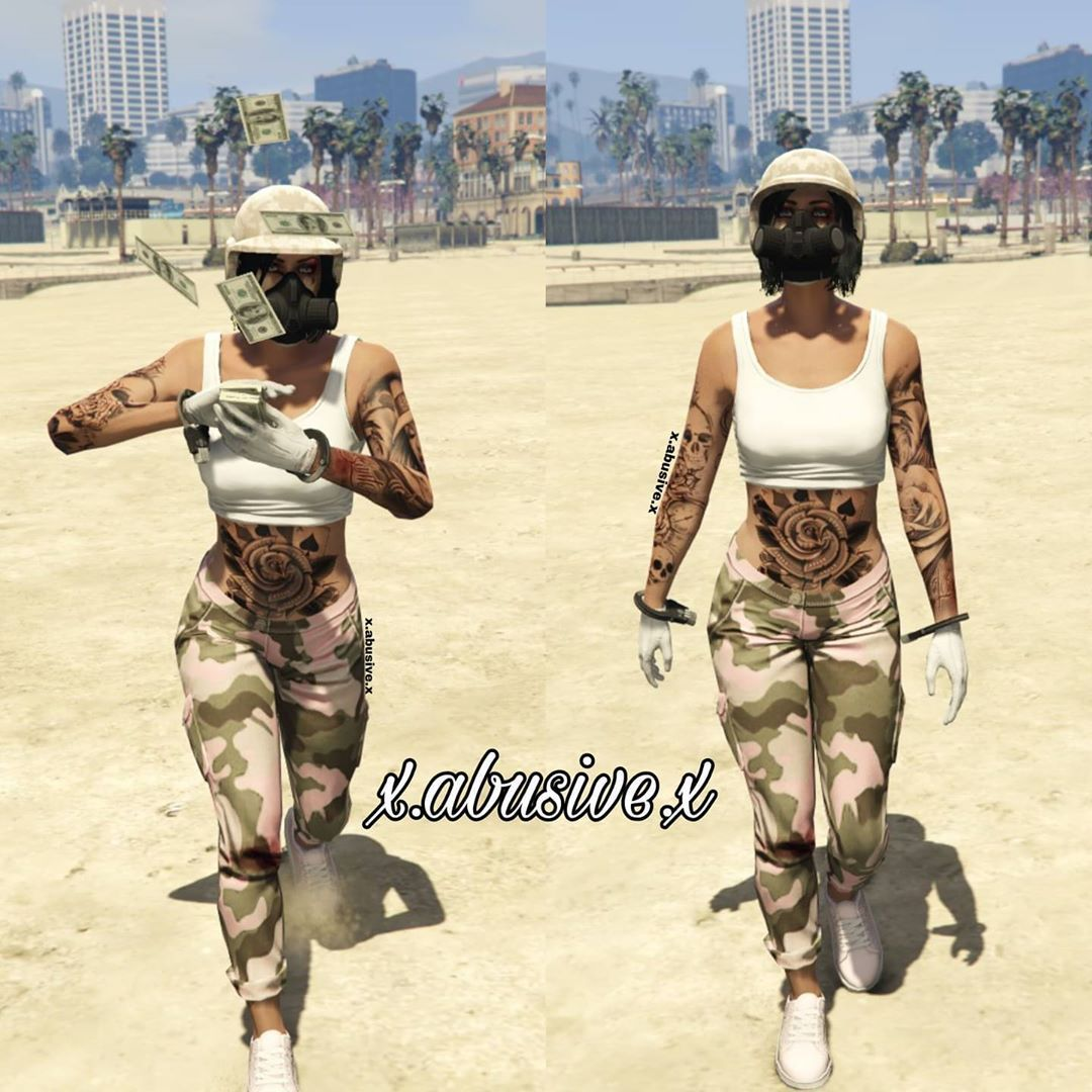 gta 5 outfits female pink in 2020 | wolle kaufen