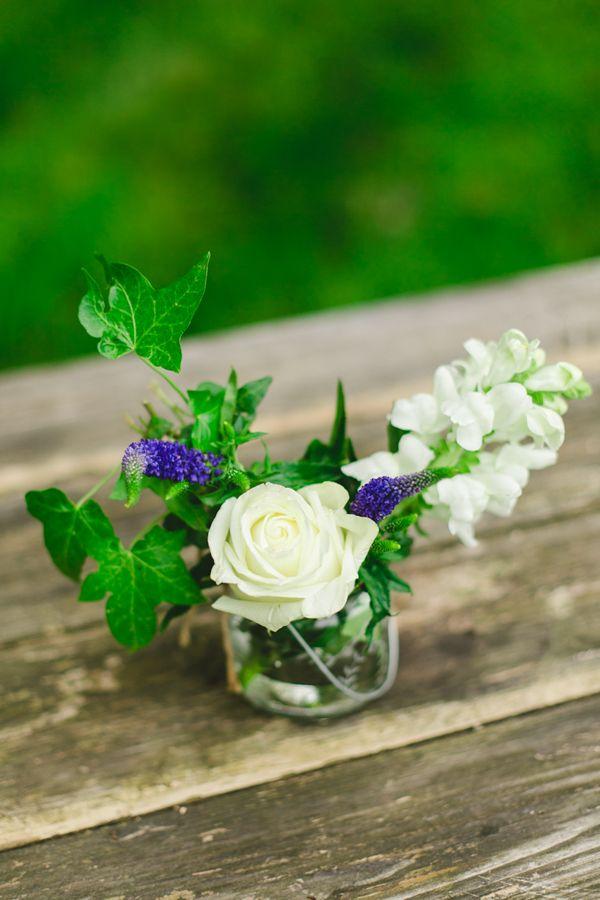 Boho Chick Wedding Table Flowers On Dana Bolton Shoot By Kirsten Mavric